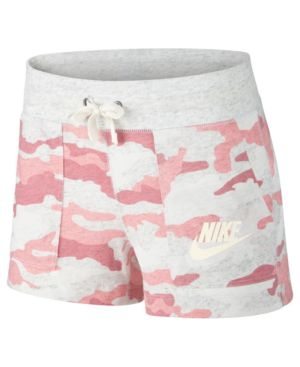 Sportswear Camo-Print Shorts, Bleached Coral