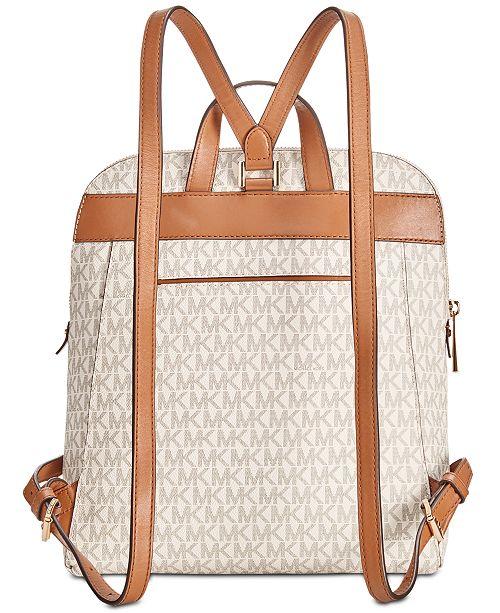 9af561e17d54 Michael Kors Signature Rhea Medium Slim Backpack & Reviews ...