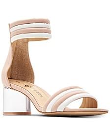 Sierra Lucite Heel Dress Sandals