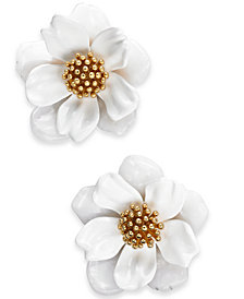 kate spade new york Gold-Tone Flower Stud Earrings