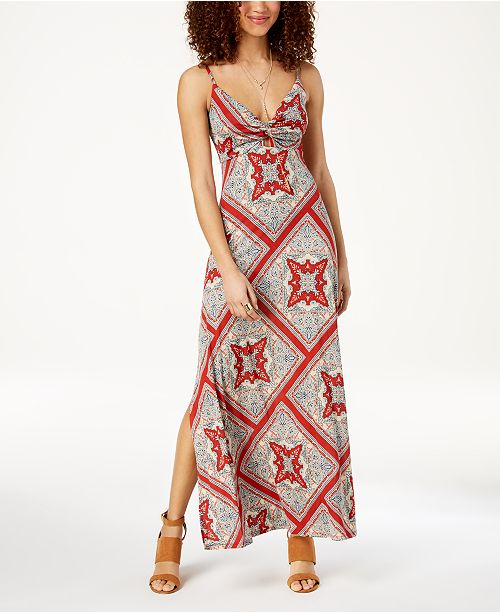 American Rag Juniors Printed Twist Front Maxi Dress Created For