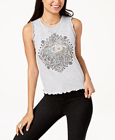 Pretty Rebellious Juniors' Elephant Graphic Tank Top