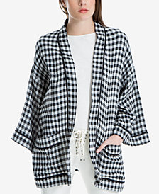 Max Studio London Cotton Gingham Check Kimono, Created for Macy's