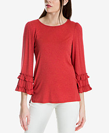 Max Studio London Ruffled-Sleeve Top, Created for Macy's