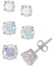 Giani Bernini 3-Pc. Set Graduated Cubic Zirconia Stud Earrings in Sterling Silver, Created for Macy's