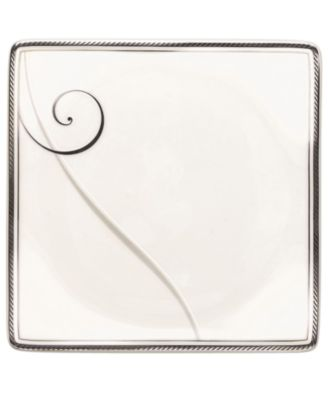 Platinum Wave Square Appetizer Plate
