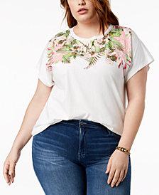 Tommy Hilfiger Plus Size Orchid-Print T-Shirt