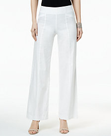 I.N.C. Linen-Blend Wide-Leg Pants, Created for Macy's