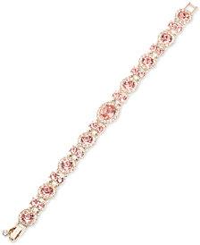 Givenchy Gold-Tone Halo Crystal Link Bracelet