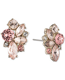 Givenchy Gold-Tone Crystal Cluster Stud Earrings