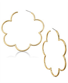 kate spade new york 14k Gold-Plated Scallop Hoop Earrings
