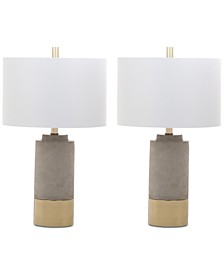 Brown Table Lamps, Set of 2