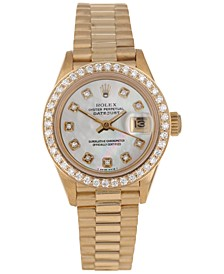 Women's Swiss Automatic Datejust Presidential Diamond (3/4 ct. t.w.) 18K Gold Bracelet Watch 26mm