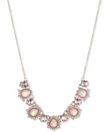 "Marchesa Gold-Tone Multi-Crystal Collar Necklace, 16"" + 3"" extender"
