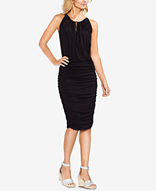 Vince Camuto Ruched Keyhole Dress