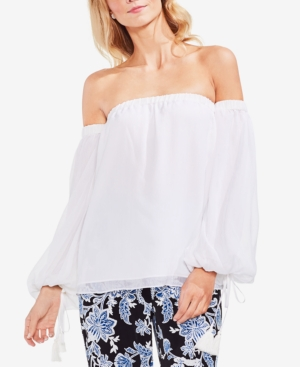 ffd96d30f457f VINCE CAMUTO Off The Shoulder Bubble Sleeve Blouse