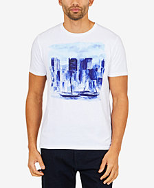Nautica Men's Artist Series Skyline Graphic-Print T-Shirt