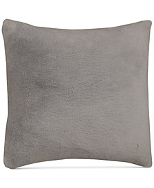 "Hallmart Collectibles Gray Faux-Fur 18"" Square Pair of Decorative Pillows"