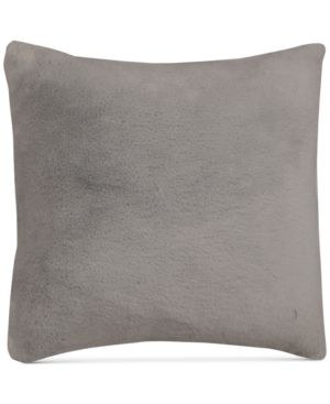 Hallmart Collectibles Gray FauxFur 18 Square Pair of Decorative Pillows