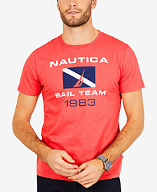 Nautica Men's Big & Tall Graphic-Print Logo Cotton T-Shirt