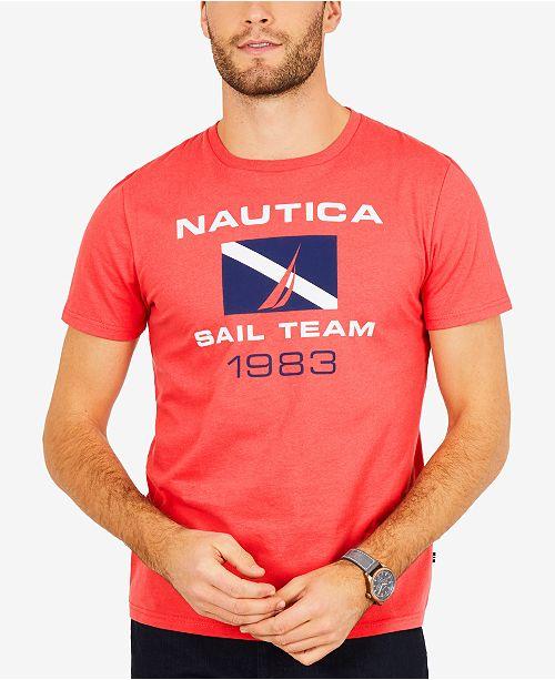 78a7b5d7 Nautica Men's Big & Tall Graphic-Print Logo Cotton T-Shirt & Reviews ...