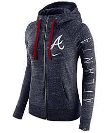 Nike Women's Atlanta Braves Gym Vintage Full Zip Hooded Sweatshirt