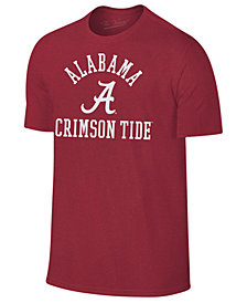 Retro Brand Men's Alabama Crimson Tide Arch Logo Dual Blend T-Shirt