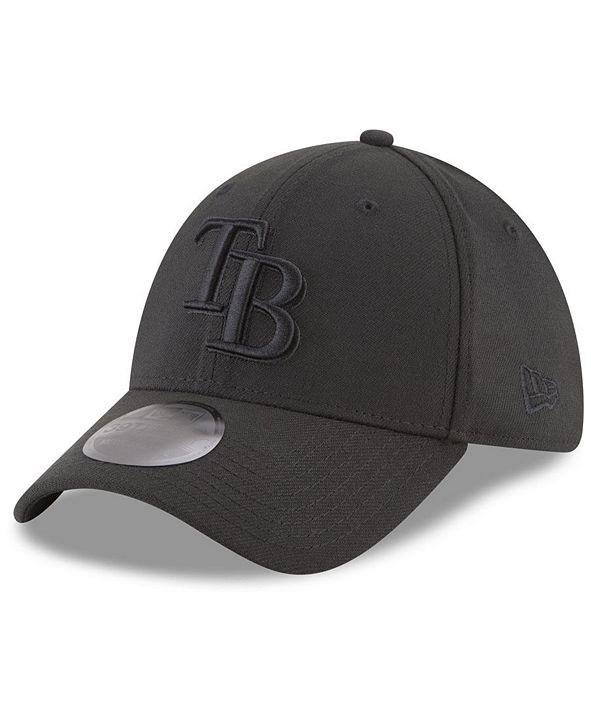 New Era Tampa Bay Rays Blackout 39THIRTY Cap