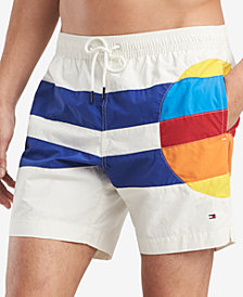 "Tommy Hilfiger Men's Big Sun Classic Fit 6.5"" Swim Trunks, Created for Macy's"