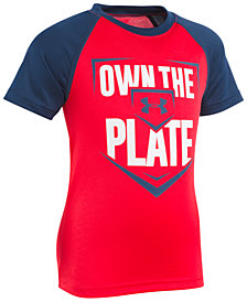 Under Armour Little Boys Plate-Print T-Shirt