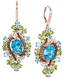 Crazy Collection® Multi-Gemstone Drop Earrings (15-3/4 ct. t.w.) in 14k Rose gold
