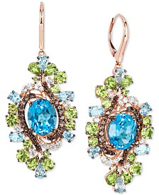 Le Vian Crazy Collection® Multi-Gemstone Drop Earrings (15-3/4 ct. t.w.) in 14k Rose gold