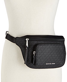 MICHAEL Michael Kors Double-Zipper Signature Belt Bag