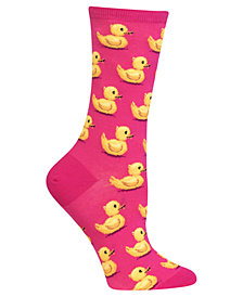 Hot Sox Women's Rubber Ducks Socks