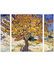 "Vincent Van Gogh 'Mulberry Tree 1889' Multi Panel Art Set Large - 25"" x 30"" x 2"""