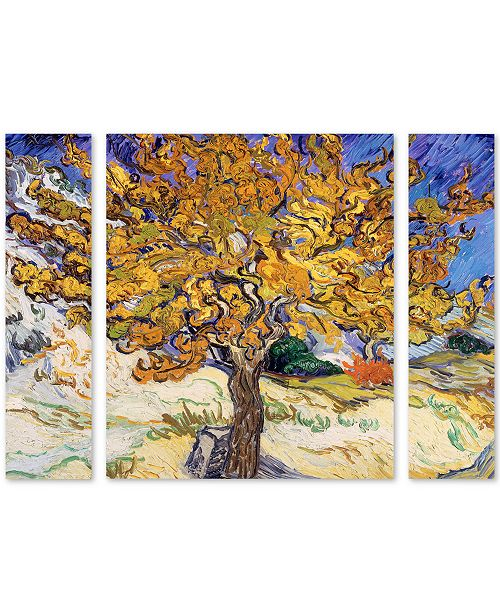 "Trademark Global Vincent Van Gogh 'Mulberry Tree 1889' Multi Panel Art Set Large - 25"" x 30"" x 2"""