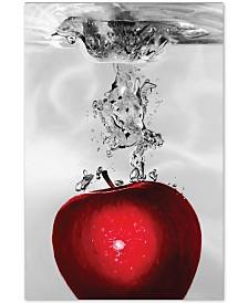 "Roderick Stevens 'Red Apple Splash' 22"" x 32"" Canvas Wall Art"