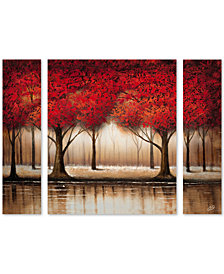 Rio 'Parade of Red Trees' Large Multi-Panel Wall Art Set