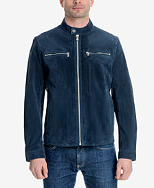 Michael Kors Men's Faux-Suede Moto Jacket