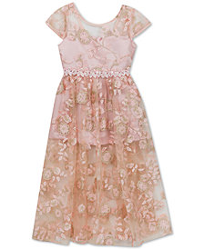 Rare Editions Toddler Girls Embroidered Maxi Dress