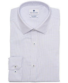 Ryan Seacrest Distinction™ Men's Ultimate Active Slim-Fit Non-Iron Performance Stretch Check Blue Graph Check Dress Shirt, Created for Macy's