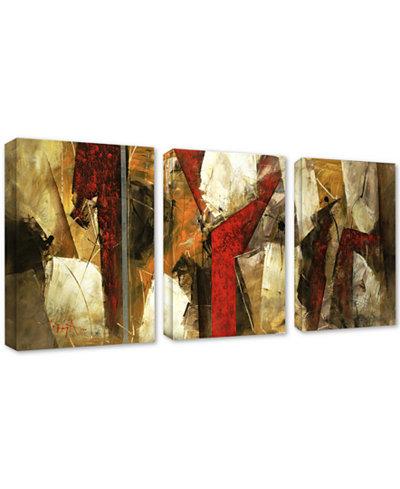 'Abstract IX' 3-Panel Canvas Wall Art Set