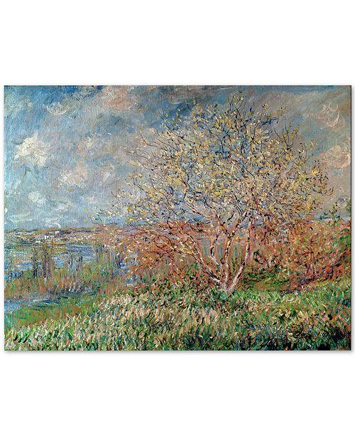 """Trademark Global Claude Monet 'Spring 1880' Canvas Wall Art, 24"""" x 32"""""""