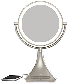 "iHome Beauty Lux 9"" Double-Sided Vanity Mirror with Bluetooth Audio, Speakerphone & USB Charging"