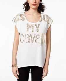 Just Cavalli Cotton Foil Logo T-Shirt