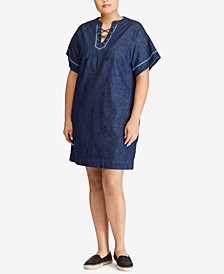 Lauren Ralph Lauren Plus Size Cotton Shift Dress