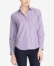Lauren Ralph Lauren Petite Straight Fit Cotton Shirt