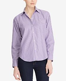 Lauren Ralph Lauren Petite Long Sleeve Non-Iron Shirt