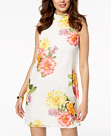 Jessica Howard Mock-Neck Floral-Print Dress, Regular & Petite