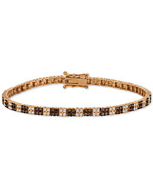 Le Vian Chocolatier® Diamond Cluster Tennis Bracelet (2-1/10 ct. t.w.) in 14k Rose Gold